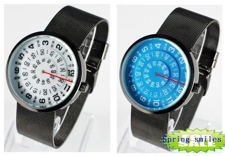 freeshipping 30pcs/lot discount sales top fashion men/women's watch,8colors choice,Japan imported quartz movement,steel band(China (Mainland))