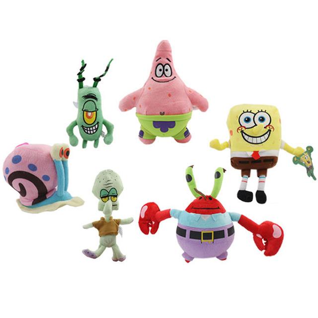 Губка боб плюшевые игрушки Губка Боб/Patrick Star/Squidward Щупальца/Евгений/Шелдон/Gary мягкие вязаные куклы, прекрасный игрушки