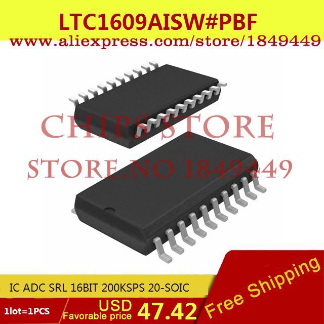 Бесплатная Доставка IC Интегральной Схемы LTC1609AISW # PBF IC ADC 16BIT SRL 200 38KSPS 20-SOIC LTC1609AISW 1609 LTC1609 1 ШТ.  ltc2203cuk pbf ic ацп 16 битный 25msps 48 qfn ltc2203cuk 2203 ltc2203 ltc2203c ltc2203cu 2203c