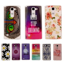 For LG Leon 4G LTE H340N C50 Flower Cute Printed Cartoon Soft Plastic Case Rubber Silicon Cover Protective Phone Cases
