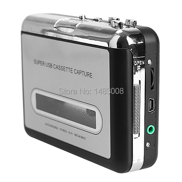 Tape to iPod/MP3 CD USB Cassette Capture Converter Audio Music Player E0Xc High Quality(China (Mainland))