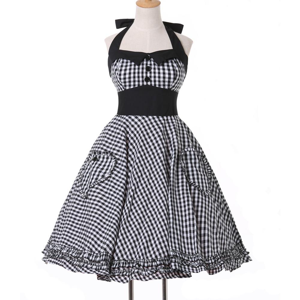 새로운 패션 여성 드레스 가운 30 대 40 50 로커 빌리 역 빈티지 ...