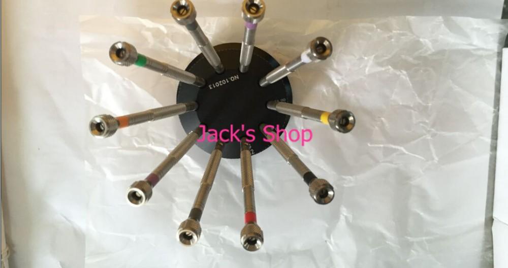 Полностью металлический высокое качество 10 шт. часы комплект отверток для часовщиков и ремонт часов
