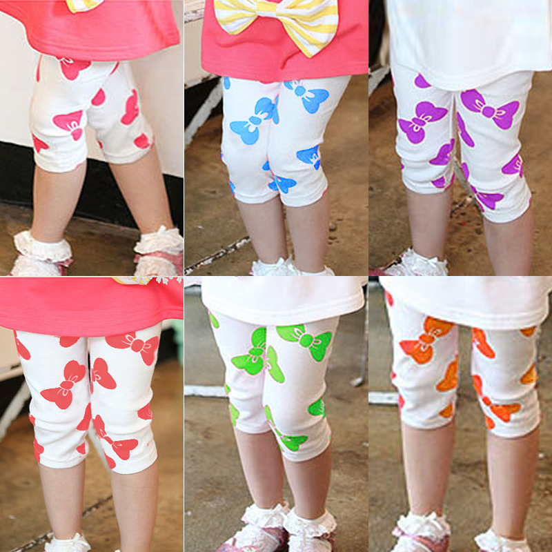 Free Shipping New Arrived 2015 Cotton Girls Clothing Summer Child legging Modal Bow Kids Leggings<br><br>Aliexpress