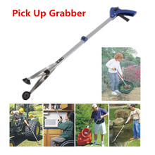 Novelty Foldable Aluminium Pick Up Grabber Trash Clamp Suction Cup Reacher 80.5cm Long Reaching Claw Helping Hand Tool Pliers(China (Mainland))