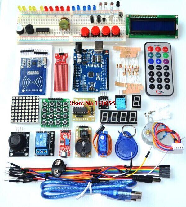 Обновленная расширенный версия стартовый комплект rfid-тегов узнать люкс для LCD 1602 для Arduino UNO R3