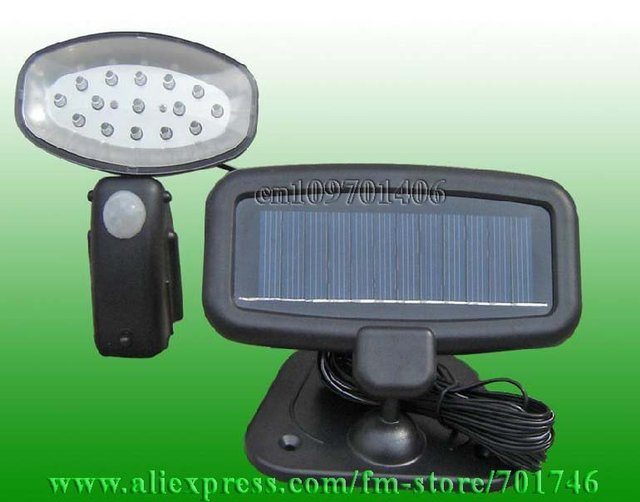 0.6W 15LED Solar pir utility light for security Motion senser wall light Free shipping