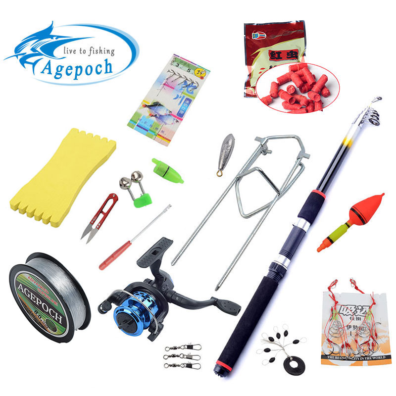 Agepoch pole spining gear sea china equipment winter all set cast carp telescopic peche feeder tackle spinning combo fishing rod(China (Mainland))