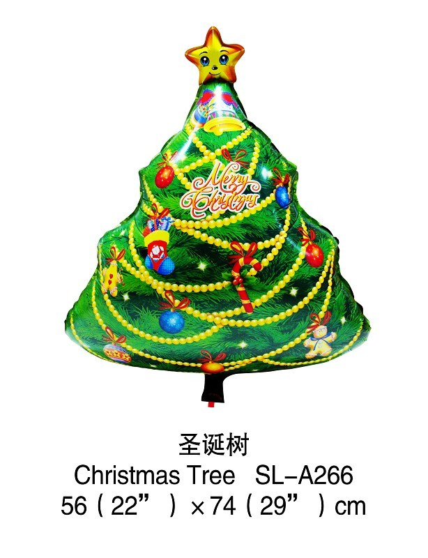 free shipping wholesale christmas tree design helium balloon children toy balloon party decoration low price balloon festival(China (Mainland))