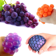 Anti Stress Ball Face Reliever Grape Ball Autism Mood Squeeze Relief Healthy Funny Tricky Toy For Relax Gift Novetly Print(China (Mainland))