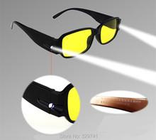 Легкий портативный многофункциональный Подсветкой Очки Очки Для Чтения Дальнозоркостью Очки Окружающей Смолы Объектив