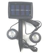 Solar Power 12 LED White Underwater Spotlight Light Garden Swimming Pool Pond Fishing Tank View Night Lamp(China (Mainland))
