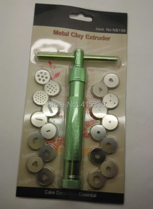 Clay Gun Cake Decorating : 20Discs/set Sugarcraft Tool Sugar Paste Extruder For Clay ...