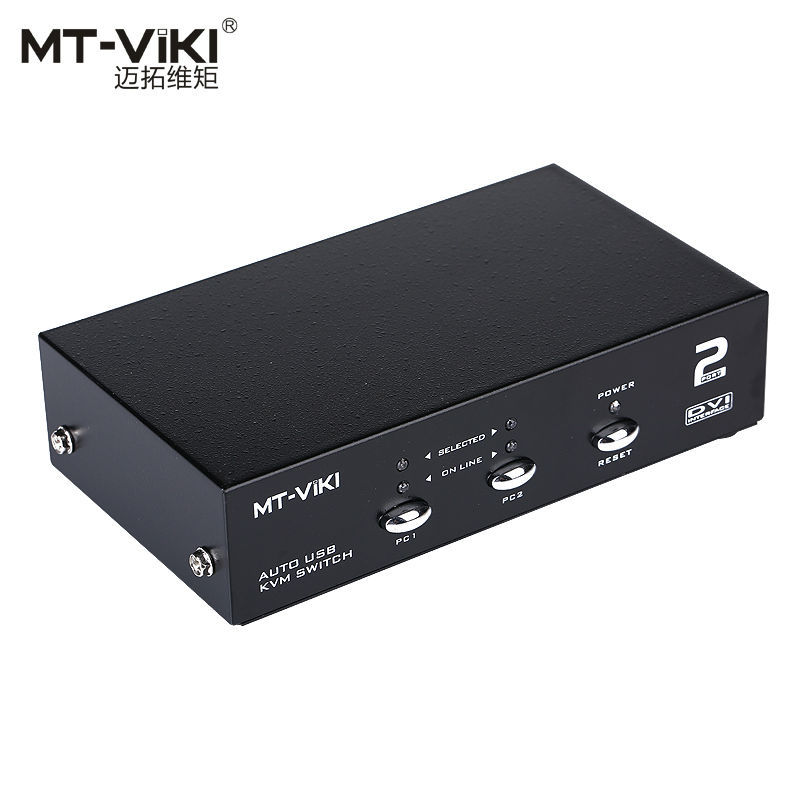 MT VIKI Maituo 2102DL 2 Port KVM Switch DVI with Audio USB Mouse Keyboard Auto Hotkey