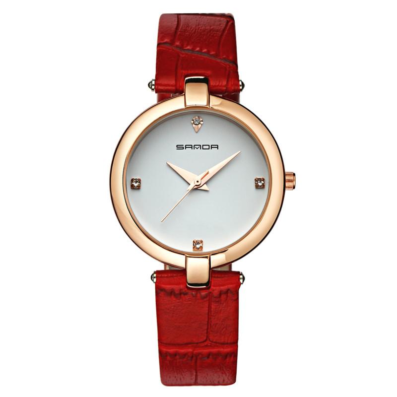 Luxury Brand Sanda Quartz Women's Watches For Women Watch Fashion Leather Watchband Female Clock Relogio Feminino Montre Femme