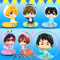 Cute PVC Japanese Anime Free Iwatobi Swim Club Rin Macoto Haruka Nanase Rei Action Figures Model