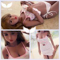 Японский лолита девушка большая грудь 136 см секс кукла с скелет секс куклы для мужчин с устные полный силиконовые куклы