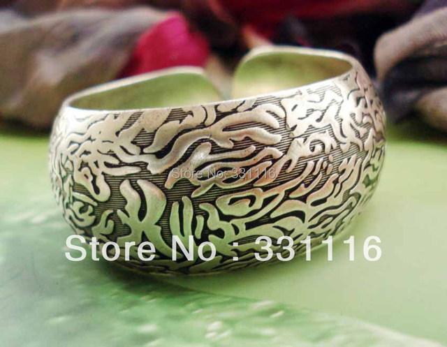 Handmade national trend accessories bark tibetan silver bracelet silver bracelet