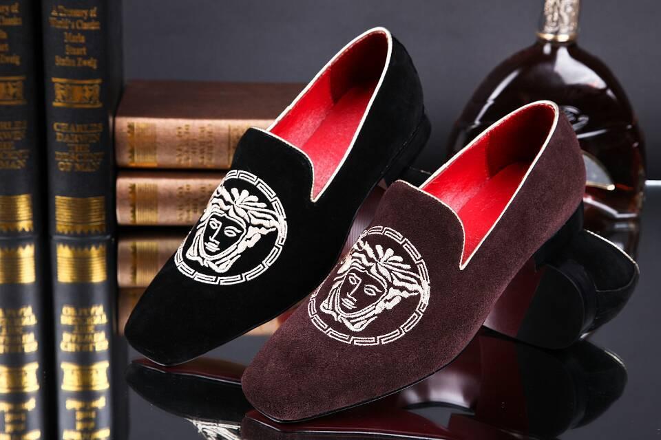 Hasdmade New 2014 square toe Men Shoes Genuine leather fashion men's flats shoe man Eur 38-46