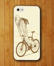 Customized Phone Case Chewbacca Star Wars Monster Ridding Bike Apple iPhone 4 4s 5 5s 5c 6 6s plus Mobile Cover 2015 - Smartphone Fundas Carcasas (HK store Co.,Ltd)