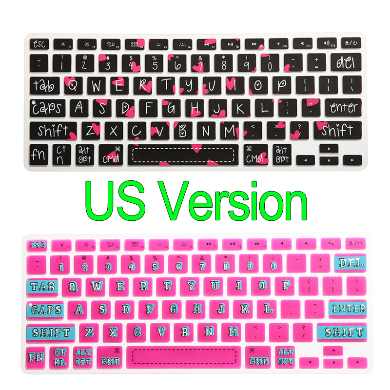 Silicone Keyboard Cover Skin For Mac For Macbook Air Pro Retina 13 15 17 13.3 15.4 US American Version(China (Mainland))