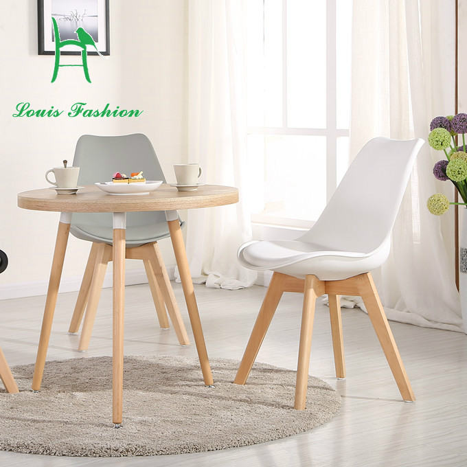 The coffee parlor chair with North European Computer leisure stool IKEA wood table chair white(China (Mainland))