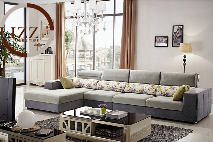 Lizz Contemporary Sectional Sofa .Adjustable Headrest.artfully combines 0modern design with practical usability for a cozy chic(China (Mainland))