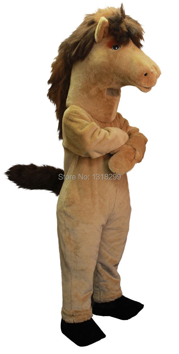 mascot Brown Mustang Horse mascot costume fancy dress custom fancy costume cosplay theme mascotte carnival costume kits(China (Mainland))
