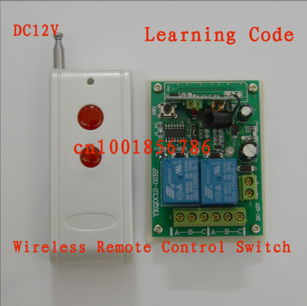 DC12V 2CH 1000M RF wireless Remote Control switch system receiver board &amp; transmitter 10A Learning code .50pcs/lot<br><br>Aliexpress