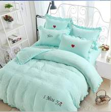 Free Shipping Modern Style Polyester and Cotton Duvet Cover Set Bed Sheet Pillowcase King Size Super Soft Bedding Sets SHX01(China)