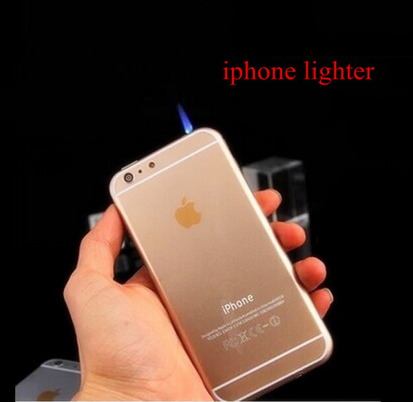 New Design Led Cigarette Lighter for Iphone 6 Fashion Gasoline Refillable Fire Lighters Windproof Gas Lighter Isqueiros AD075(China (Mainland))