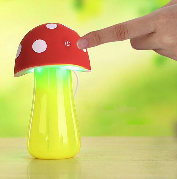 Гаджет  USB Mini Mushroom Air Humidifier Lamp 5V USB Aroma Purifier Atomizer Essential Oil Diffuser For Baby Room Office Car None Бытовая техника
