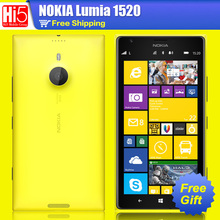 "Nokia Lumia 1520  cell phone 6.0"" IPS 20MP Camera Quad Core 16GB ROM Bluetooth 4.0 GPS 3G 4G band Free Shipping 1 year warranty(China (Mainland))"