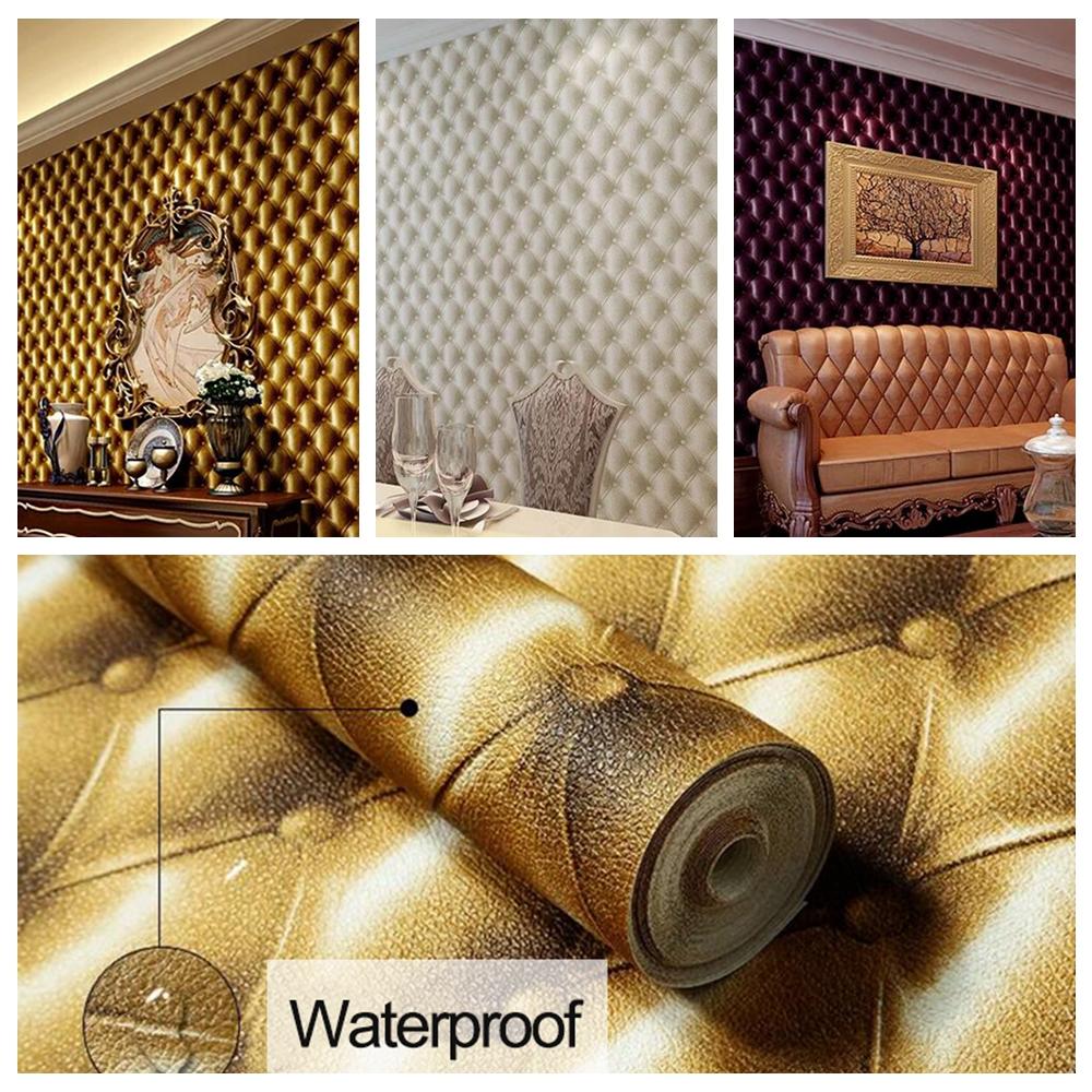 3d modern imitation leather vein wallpaper roll for walls for Wallpaper roll for walls