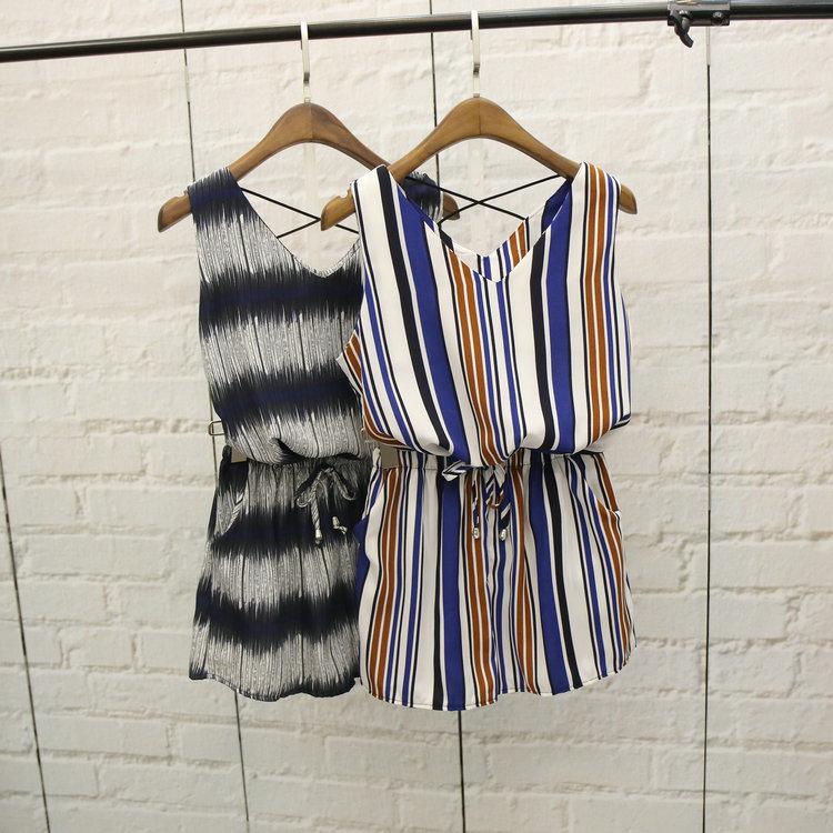 Women Casual Tops+Shorts Sets Sleeveless Print Flowers Striped Vest Woman Femininas Summer Loose T Shirts Top Pants Outfits(China (Mainland))