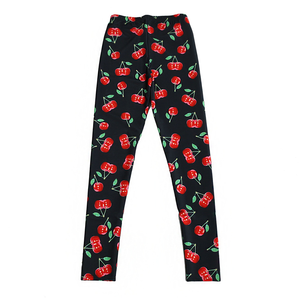 The manufacturers for sky digital printing and retail cherry Slinky Leggings Vgs3070(China (Mainland))