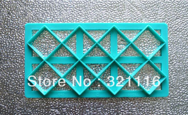 Free Shipping DAB Impression die,Diamond lattice baking sugar mould,Silicone, Baking tools,Sugar tools, Exclusive products,TS200