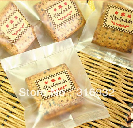 E1 Cookie packaging frosted transparent bag for biscuits snack baking package 100pcs/lot 11.5*9cm(China (Mainland))
