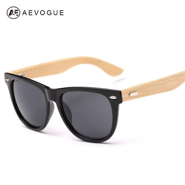Aevogue бамбук храма мужские солнцезащитные очки унисекс летний стиль модной UV400 старинные солнечные очки óculos De Sol AE0295