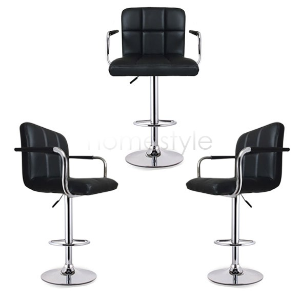 Adjustable Bar Stool Balck Synthetic Leather Pub Style Modern Bar Stoolsfor Home Chair Furniture Us24(China (Mainland))