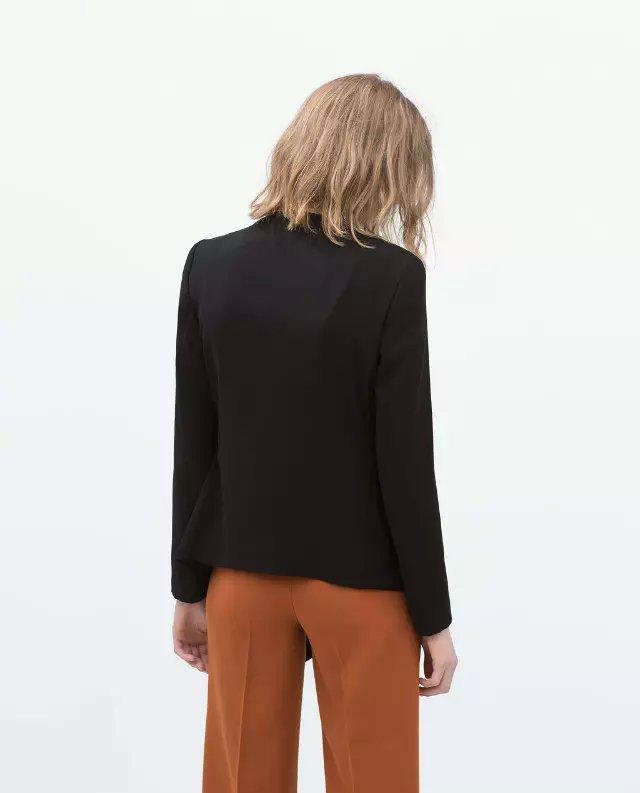 женщины отделение черные оборками блейзер нерегулярные