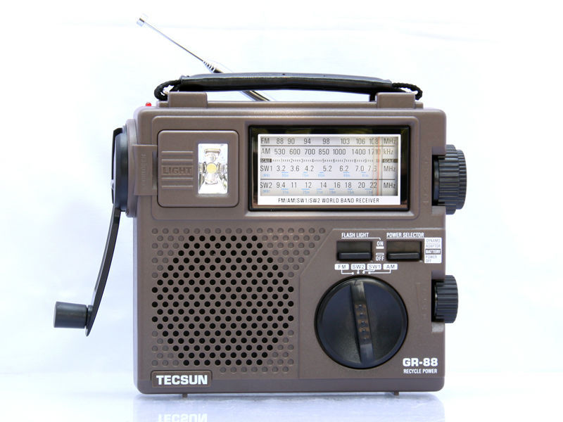 TECSUN GR-88 Dynamo Hand Cranking FM/AM/SW Radio(China (Mainland))