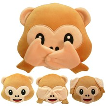 Whatsapp No Saying No Looking No Listening Monkey Pillow Cushion
