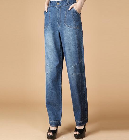 Скидки на Гарем брюки для женщин джинсы повседневная шаровары брюки свободные осень-весна зима хлопок высокой талии женские брюки yfq0604