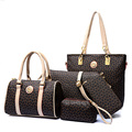 5Pcs Lot Designer England Style Women s Composite bag Durable PVC Shoulder bag Portable Handbags Messenger