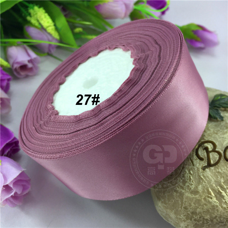 "1-1/2"" (38mm) Taro Satin Ribbon Wedding decaration Cake flower Ribbon Double Face 25yds/Roll free shipping(China (Mainland))"