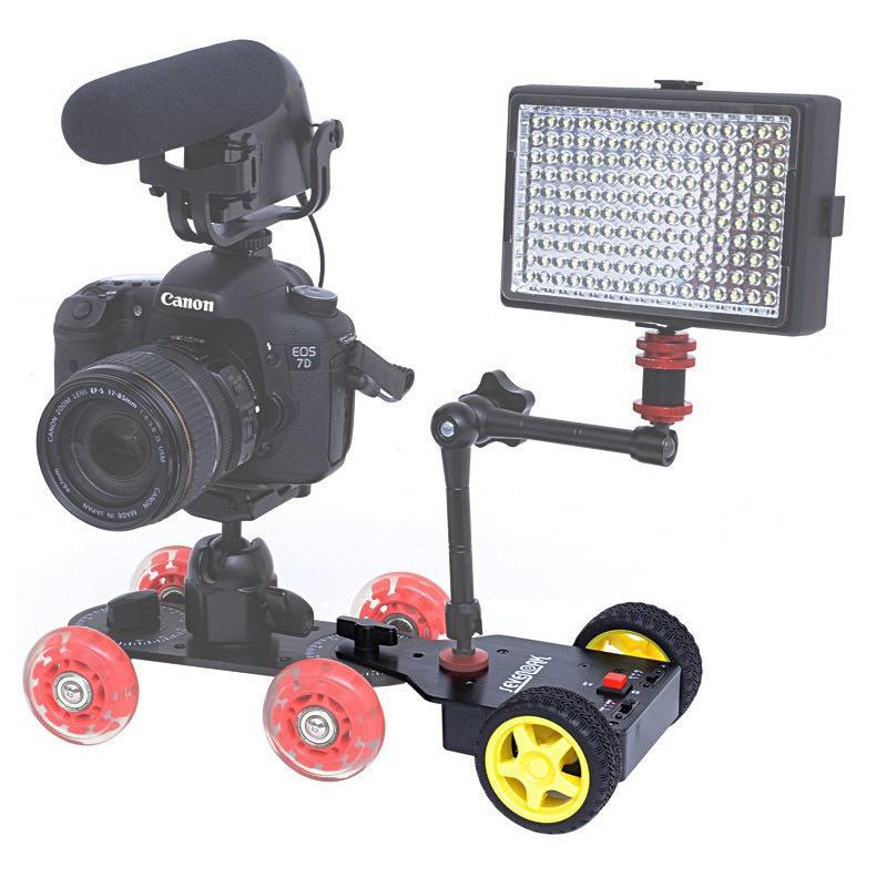 Sevenoak Motorized Push Cart / Dolly Tractor for Canon Nikon Sony Pentax DSLR Cameras Camcorders Cam Dolly SK-MS01<br><br>Aliexpress