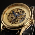 2016 Forsining Series Blue Special Hands Golden Die Casting Case Watch Men Top Brand Luxury Automatic