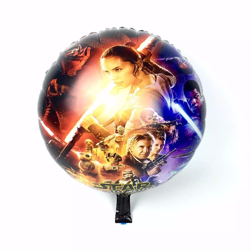 50pcs/lot 18inch Star Wars round Foil Balloons baby birthday party decoration Helium Balloon inflatable air ballons kids toys(China (Mainland))