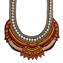 Hot 2015 New Fashion  Ethnic Necklace Pendant MultiColor Vintage Bohemian Choker Collar Necklaces Statement For Women N3405(China (Mainland))
